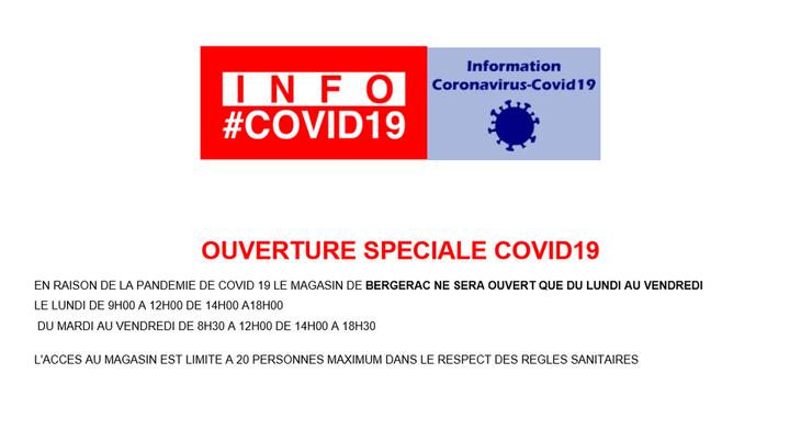 OUVERTURE SOECIALE COVID19